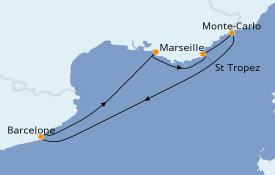 Itinerario de crucero Mediterráneo 6 días a bordo del Azamara Journey