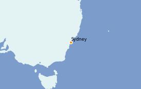Itinerario de crucero Australia 2022 4 días a bordo del Serenade of the Seas