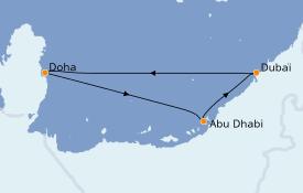 Itinerario de crucero Dubái 6 días a bordo del Costa Diadema