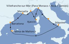 Itinerario de crucero Mediterráneo 11 días a bordo del Celebrity Apex