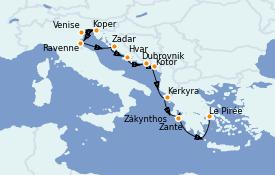 Itinerario de crucero Grecia y Adriático 12 días a bordo del Azamara Journey