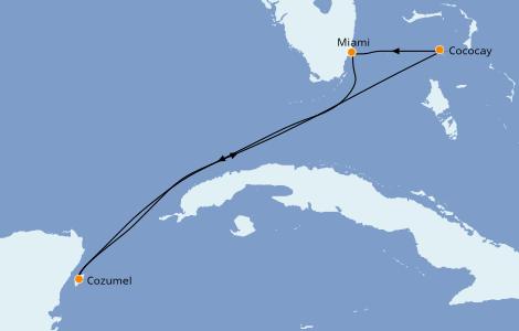 Itinerario del crucero Caribe del Oeste 5 días a bordo del Symphony of the Seas