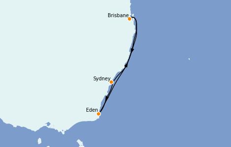 Itinerario del crucero Australia 2022 5 días a bordo del Quantum of the Seas