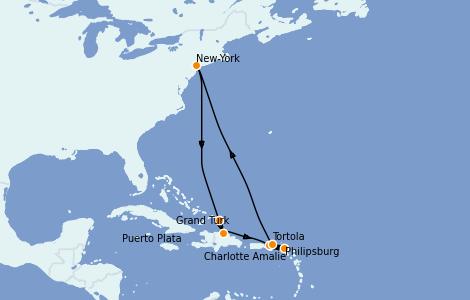 Itinerario del crucero Caribe del Este 10 días a bordo del Norwegian Gem