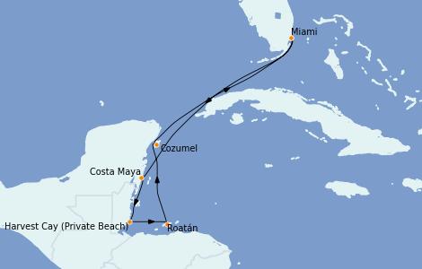 Itinerario del crucero Caribe del Oeste 7 días a bordo del Riviera