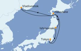 Itinerario de crucero Asia 8 días a bordo del Costa Mediterranea