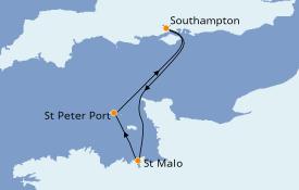 Itinerario de crucero Islas Británicas 4 días a bordo del Azamara Pursuit
