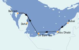Itinerario de crucero Dubái 6 días a bordo del MSC Virtuosa