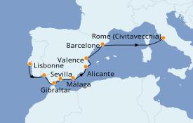 Itinerario de crucero Mediterráneo 13 días a bordo del Azamara Quest
