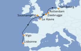 Itinerario de crucero Mar Báltico 9 días a bordo del MSC Preziosa