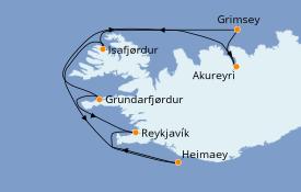 Itinerario de crucero Exploración polar 8 días a bordo del Le Bellot