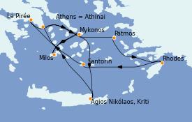 Itinerario de crucero Grecia y Adriático 8 días a bordo del Celestyal Crystal