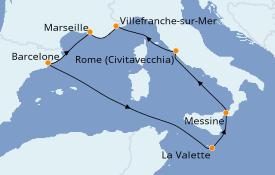 Itinerario de crucero Mediterráneo 8 días a bordo del Vision of the Seas
