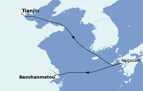 Itinerario del crucero Asia 4 días a bordo del Spectrum of the Seas