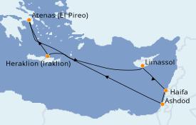 Itinerario de crucero Tierra Santa 11 días a bordo del Azamara Pursuit