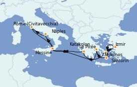 Itinerario de crucero Grecia y Adriático 11 días a bordo del Carnival Pride