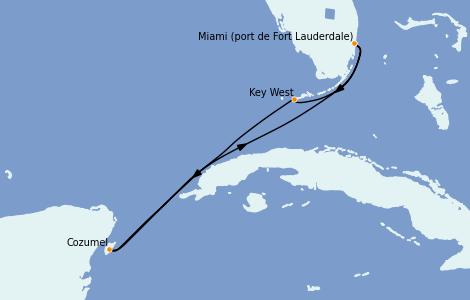 Itinerario del crucero Caribe del Oeste 5 días a bordo del Celebrity Reflection