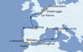 Itinerario de crucero Mediterráneo 13 días a bordo del Celebrity Reflection
