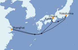 Itinerario de crucero Asia 8 días a bordo del MSC Bellissima