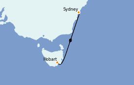 Itinerario de crucero Australia 2021 5 días a bordo del Serenade of the Seas