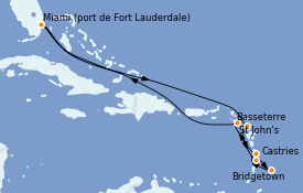 Itinerario de crucero Caribe del Este 11 días a bordo del Celebrity Equinox