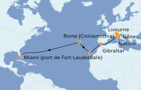 Itinerario de crucero Mediterráneo 17 días a bordo del Enchanted Princess