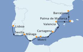 Itinerario de crucero Mediterráneo 11 días a bordo del Azamara Quest