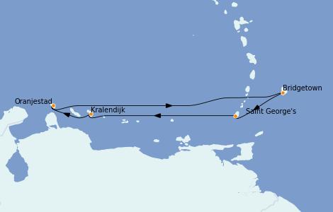 Itinerario del crucero Caribe del Este 7 días a bordo del Grandeur of the Seas