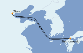 Itinerario de crucero Asia 6 días a bordo del Voyager of the Seas