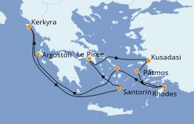 Itinerario de crucero Grecia y Adriático 8 días a bordo del Norwegian Jade