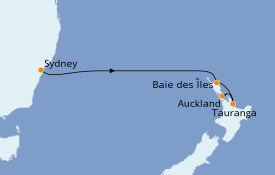Itinerario de crucero Australia 2021 6 días a bordo del Regal Princess
