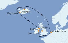 Itinerario de crucero Islas Británicas 12 días a bordo del Celebrity Reflection