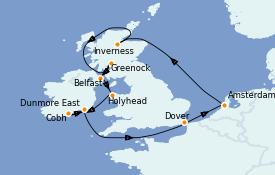 Itinerario de crucero Islas Británicas 13 días a bordo del Jewel of the Seas