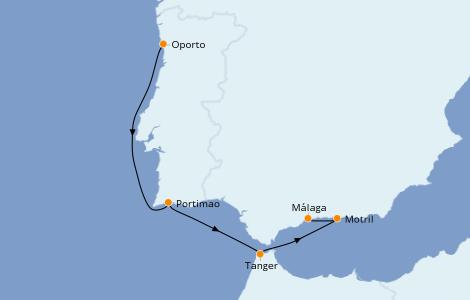 Itinerario del crucero Islas Canarias 5 días a bordo del Royal Clipper