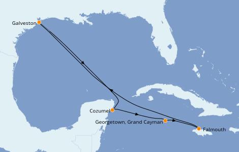 Itinerario del crucero Caribe del Oeste 7 días a bordo del Liberty of the Seas