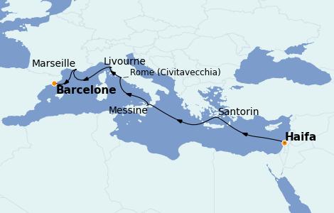 Itinerario del crucero Mediterráneo 8 días a bordo del Rhapsody of the Seas