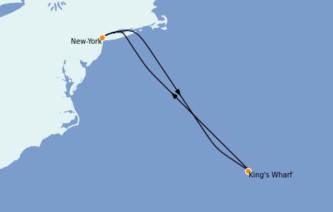 Itinerario del crucero Bahamas 5 días a bordo del Norwegian Getaway