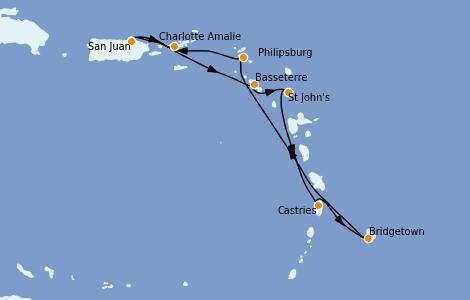 Itinerario del crucero Caribe del Este 7 días a bordo del Explorer of the Seas