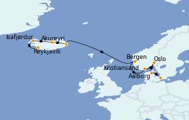 Itinerario de crucero Exploración polar 12 días a bordo del Silver Whisper