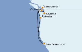 Itinerario de crucero Alaska 8 días a bordo del Ruby Princess