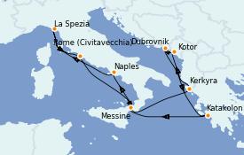 Itinerario de crucero Mediterráneo 11 días a bordo del Celebrity Reflection