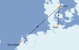 Itinerario de crucero Mar Báltico 4 días a bordo del Costa Favolosa