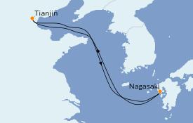 Itinerario de crucero Asia 5 días a bordo del Spectrum of the Seas