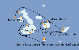 Itinerario de crucero Islas Galápagos 8 días a bordo del Silver Origin