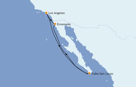 Itinerario del crucero Riviera Mexicana 5 días a bordo del Norwegian Bliss