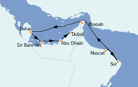 Itinerario de crucero Dubái 9 días a bordo del Le Jacques Cartier