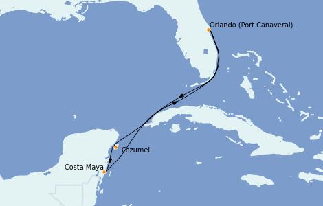 Itinerario del crucero Caribe del Este 5 días a bordo del Mariner of the Seas