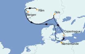 Itinerario de crucero Mar Báltico 8 días a bordo del MSC Musica