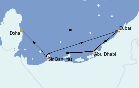 Itinerario de crucero Dubái 10 días a bordo del MSC World Europa