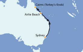 Itinerario de crucero Australia 2021 9 días a bordo del Ovation of the Seas